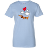 Dachshund Up Up and Away Heart Balloon Shirts