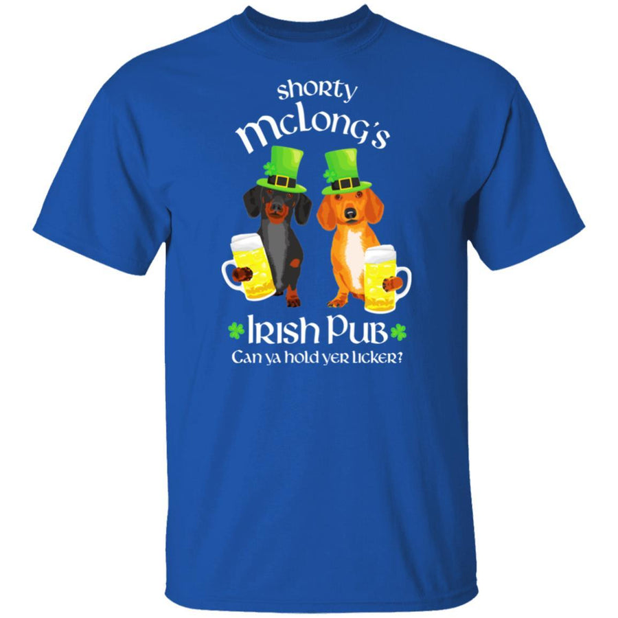Dachshund Shorty McLong's Irish Pub T-Shirts + Long Sleeves