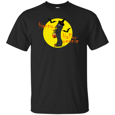 Dachshund Happy Halloweenie Black and Tan Shirts