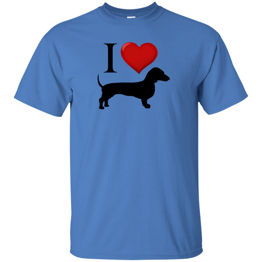 I Love Dachshunds Heart Shirts