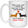 Dachshund Many Paws Mugs
