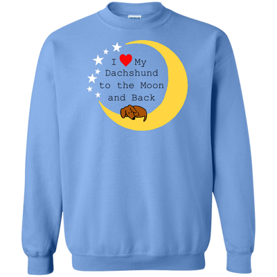 I Love My Dachshund To The Moon and Back Shirts