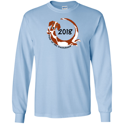 2018 Year of the Dachshund piebald long hair Shirts