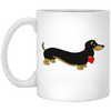 Dachshund Love Black and Tan Mugs