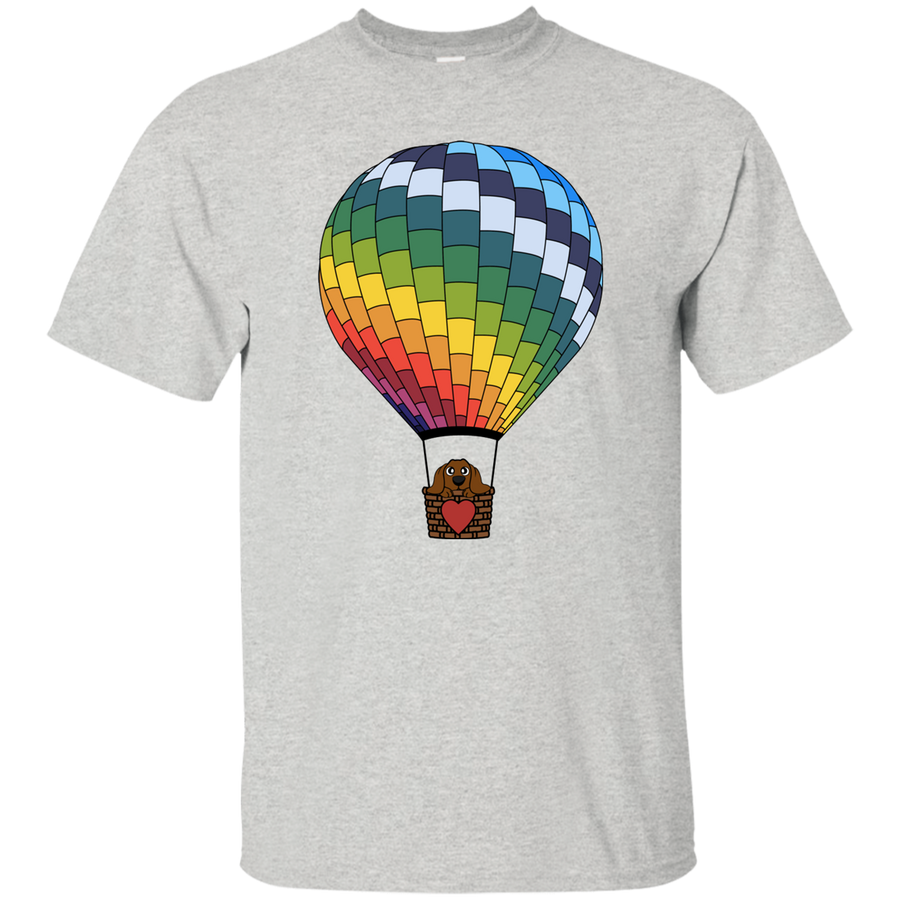 Dachshund in Hot Air Balloon Brown Shirts