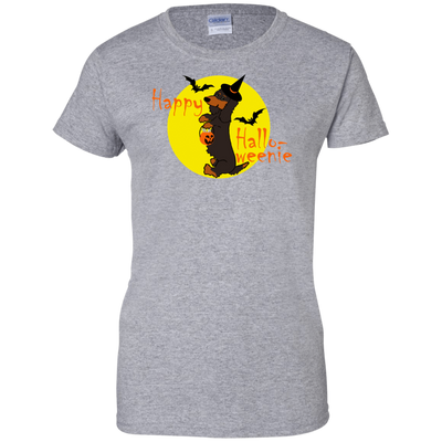 Dachshund Happy Halloweenie Black and Tan Long Hair Shirts