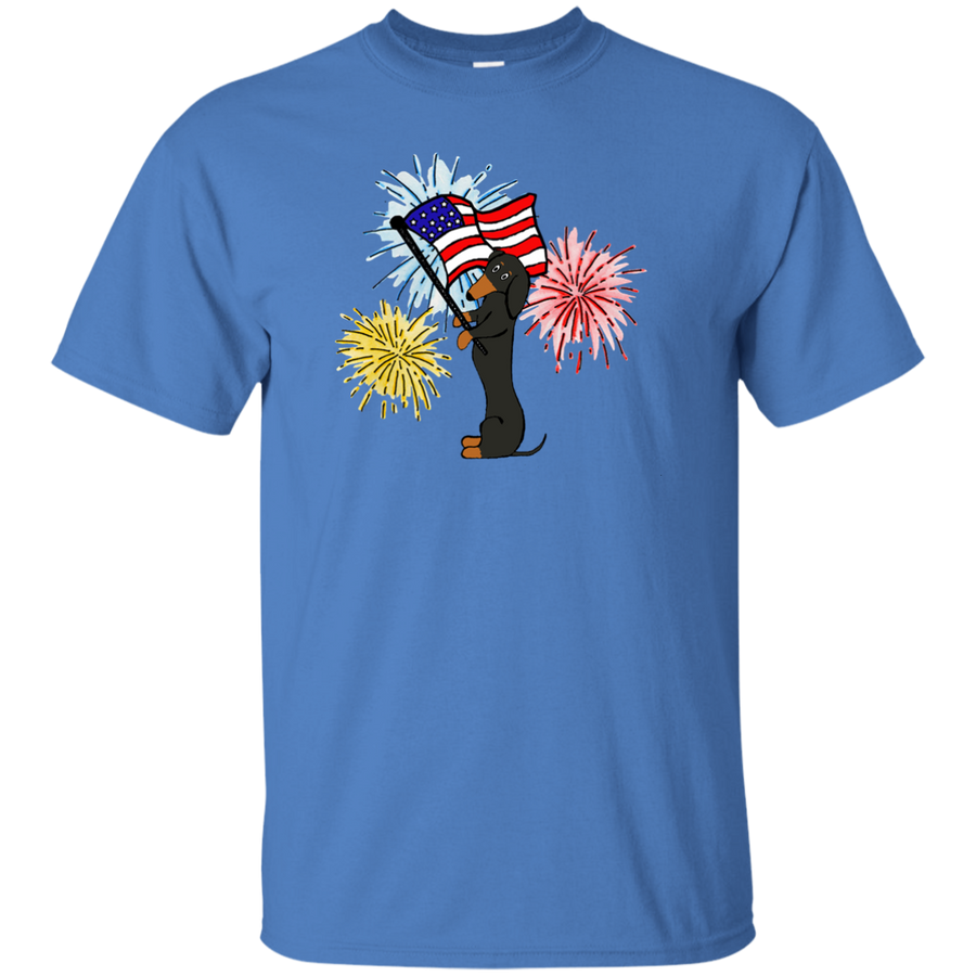 Dachshund Black + Tan Patriotic Celebration Shirts