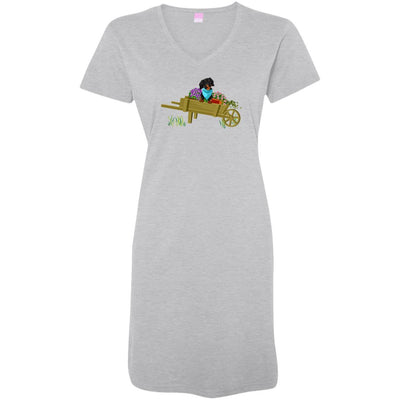 Dachshund Black + Tan in Wheelbarrow Night Shirt / Beach Cover-up