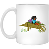 Dachshund Black + Tan in Wheelbarrow Mugs
