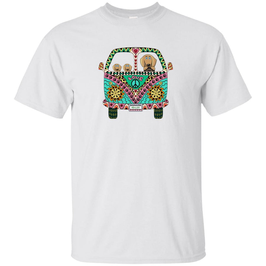 Dachshunds Love Bus Brown Dogs T-Shirts