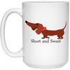 Dachshund Short and Sweet Mugs