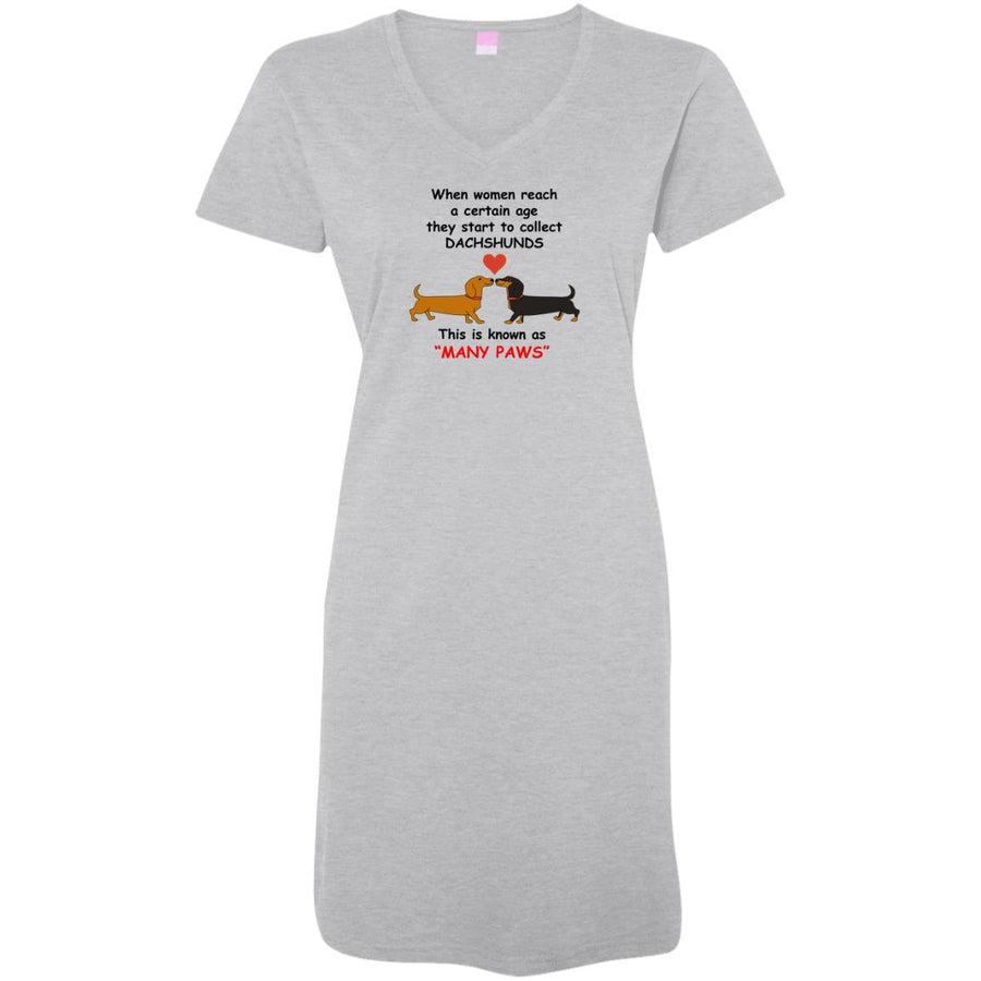 Dachshund Many Paws Night Shirt / Beach Cover-up