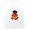 Dachshund Black and Tan Apple Basket Apron