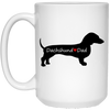 Dachshund Loves Dad Mugs