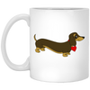 Dachshund Love Brown Mugs