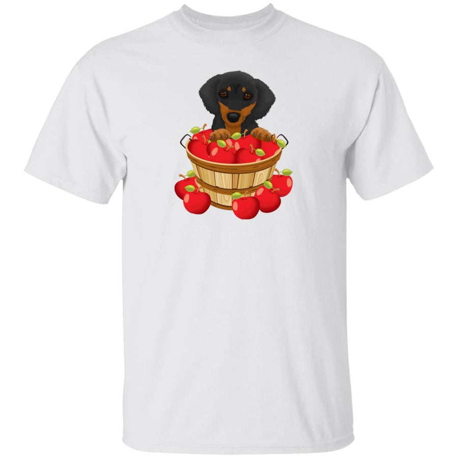 Dachshund Black and Tan Apple Basket Shirts