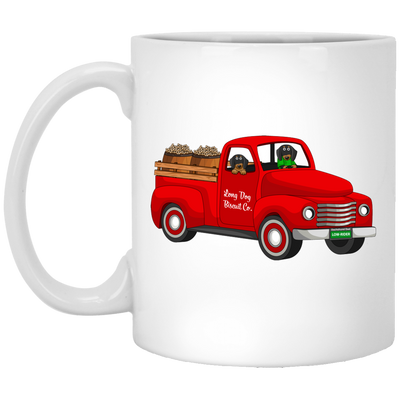 Dachshund Biscuit Truck Black and Tan Dogs Mug