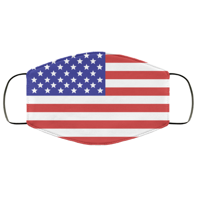 American Flag Reusable Washable 3 Layer Cloth Face Mask Printed and Ships Fast from USA