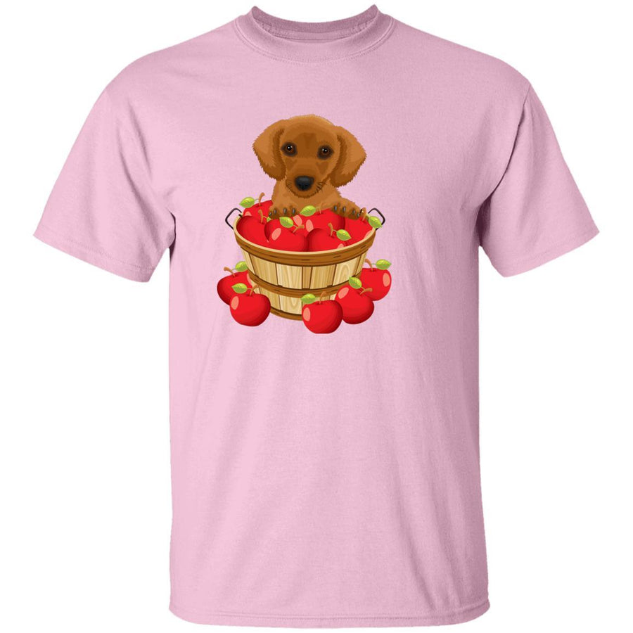 Dachshund Brown in Apple Basket Shirts