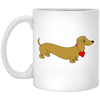 Dachshund Love Tan Mugs