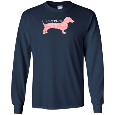 Dachshund Crazy Love Red Heart Shirts