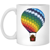 Dachshund in Hot Air Balloon Brown Mugs
