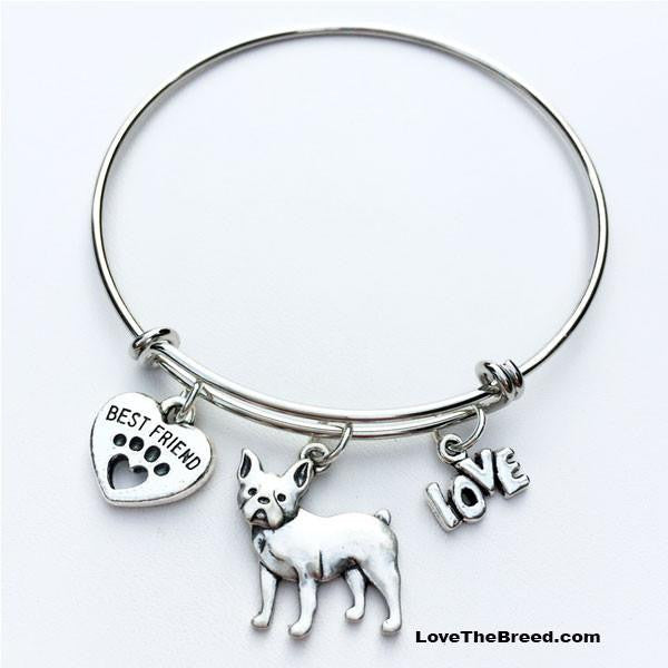 French Bulldog Style 2 Best Friend Love Charm Bracelet