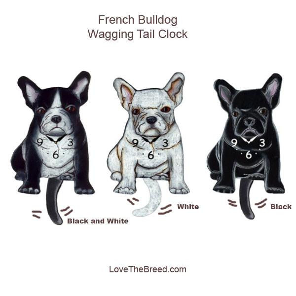 French Bulldog Wagging Tail Clock