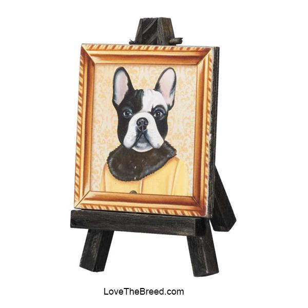 French Bulldog Mini Portrait on and Easel
