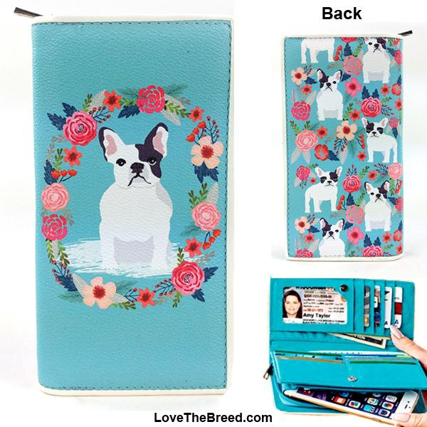 French Bulldog Floral Wallet