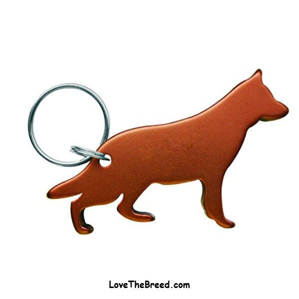 German Shepherd Bottle Opener Keychain