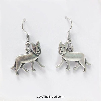 German Shepherd Charm Earrings