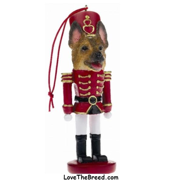 German Shepherd Soldier Christmas Ornament