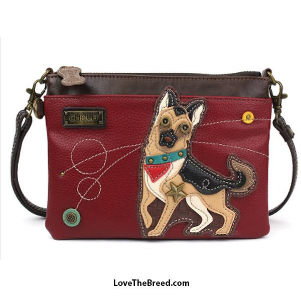 German Shepherd Mini Crossbody or Clutch Purse Chala