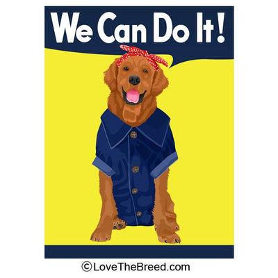 Golden Retriever Rosie the Riveter We Can Do It Extra Large Tote
