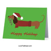 Dachshund Happy Holidays Mistletoe Card