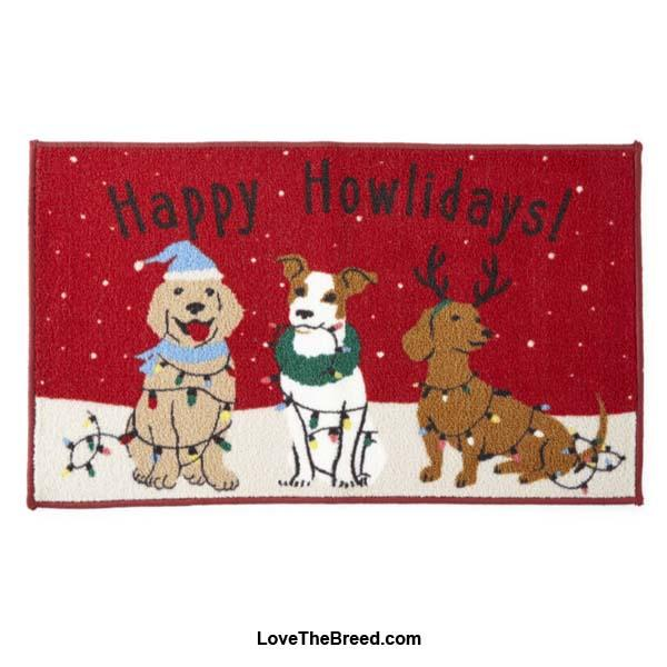 Happy Howlidays Dogs Indoor Door Mat