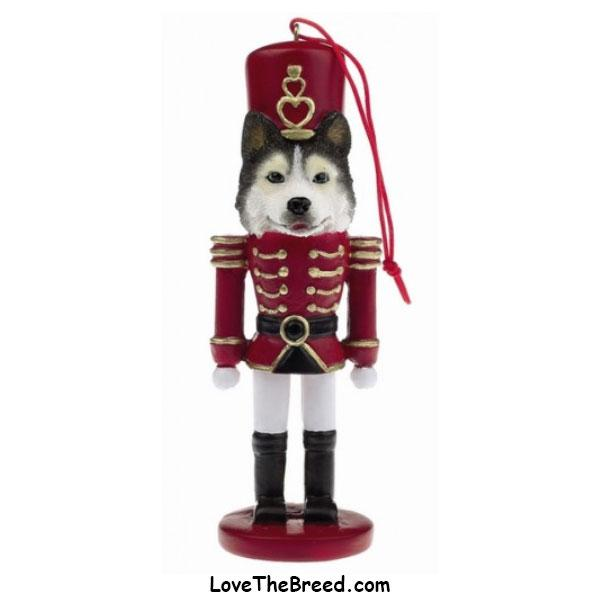Husky Soldier Christmas Ornament
