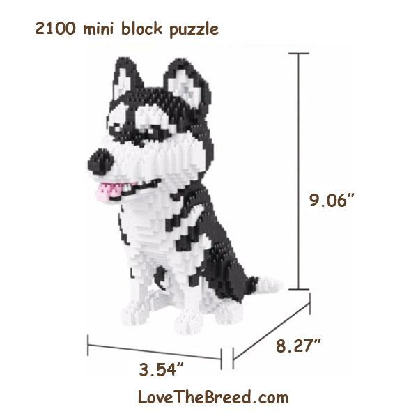 Husky mini blocks puzzle 2100 pieces