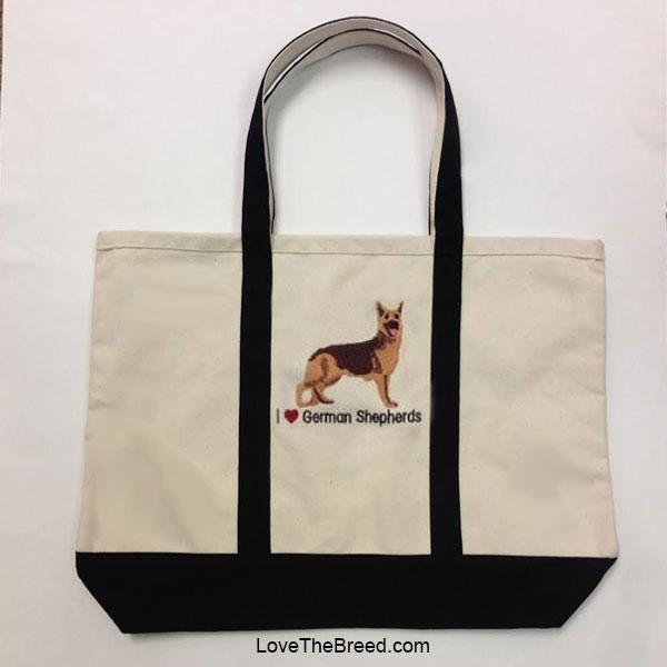 I Love German Shepherds Canvas Tote