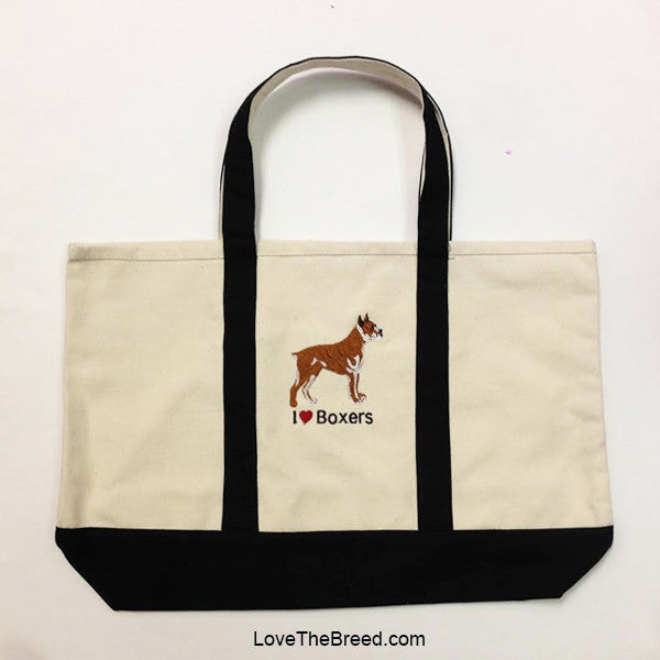 I Love Boxers Canvas Tote