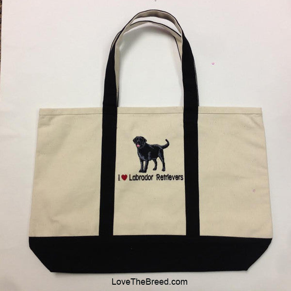 I Love Labrador Retrievers Canvas Tote