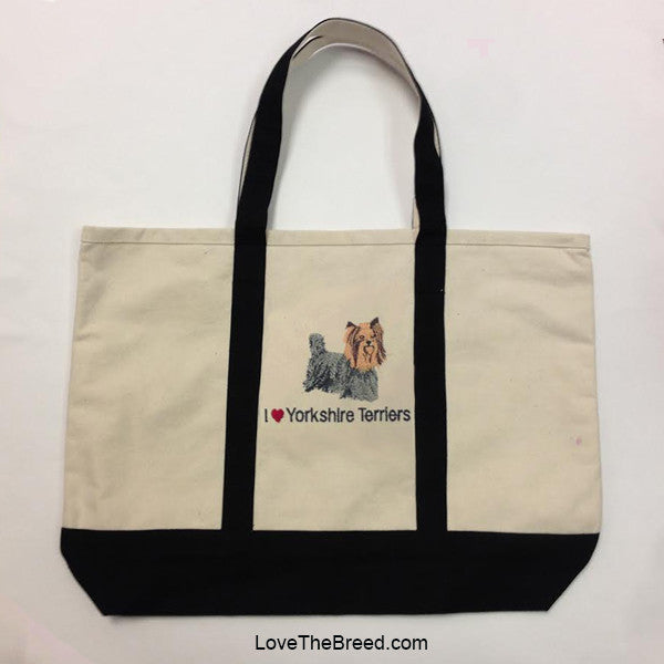 I Love Yorkshire Terriers Canvas Tote