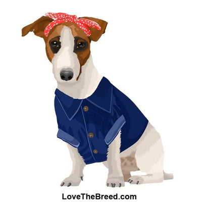 Jack Russell Rosie the Riveter DOG Extra Large Tote