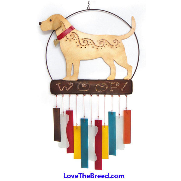 Labrador and Golden Retriever Wind Chime