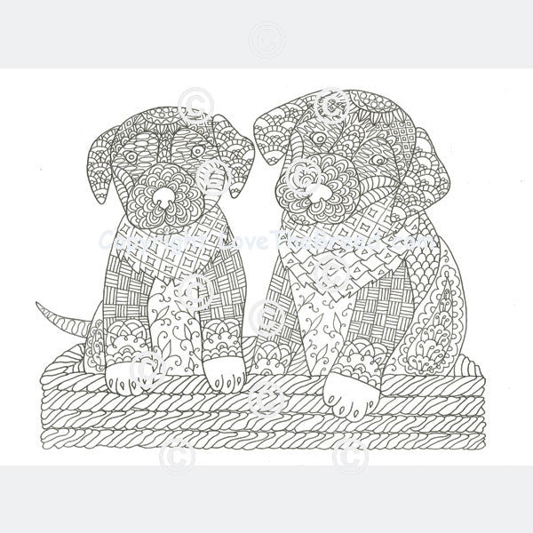 Labrador Retriever Coloring Book for Adults and Children - Volume 1