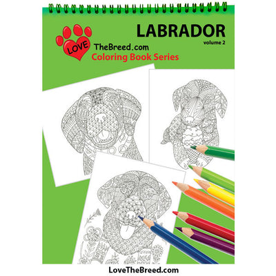 Labrador Retriever Coloring Book for Adults and Children - Volume 2
