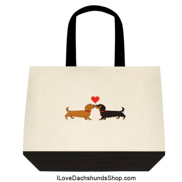 Dachshund Long on Love Extra Large Tote
