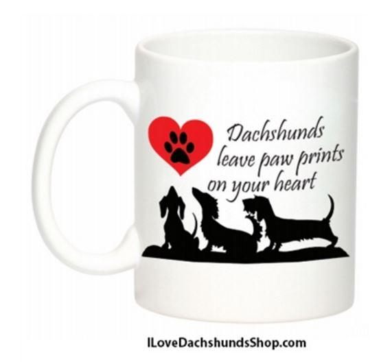 Dachshunds Leave Paw Prints on Your Heart Mug