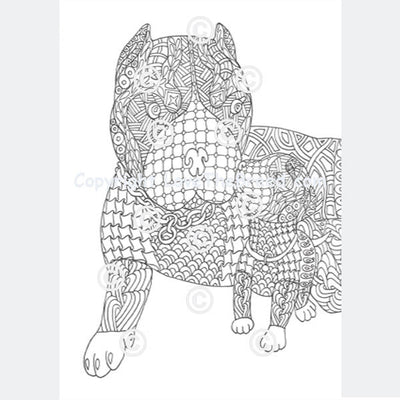 pit bull pibble coloring book for adults and children volume 1